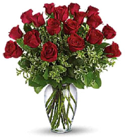 Valentines for 12 dozen roses at your door